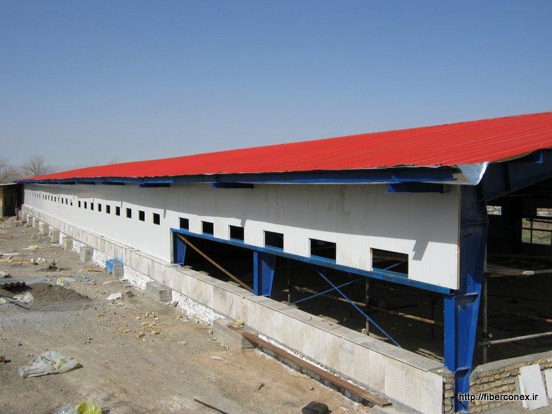 ساختمان پیش ساخته - مرغداری
